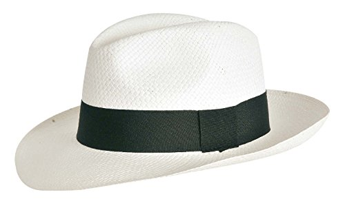 Verdemax 5043 witte Panama hoed in natuurlijk stro (maat 55-57-59)