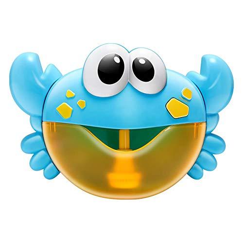 Domybest - Máquina para burbujas de jabón con cangrejo musical con burbujas de jabón y baño automático para bañera, juguetes de baño para niños