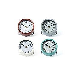 Imax ZA0411477 Lyydia Table Clocks - Multi Color44; Set of 4