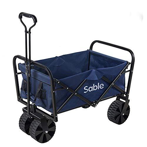 Sable Carro de Transporte Plegable Wagon Resistente al Aire Libre para Compras,...