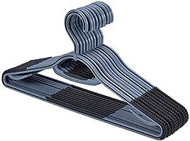 Hanger Plastic Clothes Hangers with Non Slip Pads, Sure Grip 10 Pack, 360° Swivel Hook, Shirts, Suits, Pants, Scarfs...