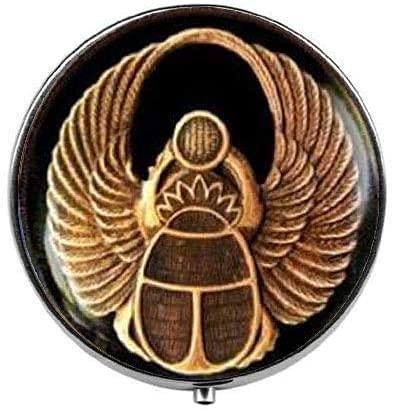 Pastillero de Escarabajo Egipto Antiguo - Pastillero con encanto - Caja de...
