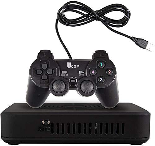 ABORON 3000 in 1 Retro Games Console FC NES SNES PS Classic Games Pandora SAGA Video Game Box HDMI Plug&Play Video Games 2 Controller for Family (Black)