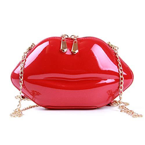 EVEOUT Frauen Sexy Rote Lippen Abend Handtasche Party Clutch Crossbody Schulter Geldbörse