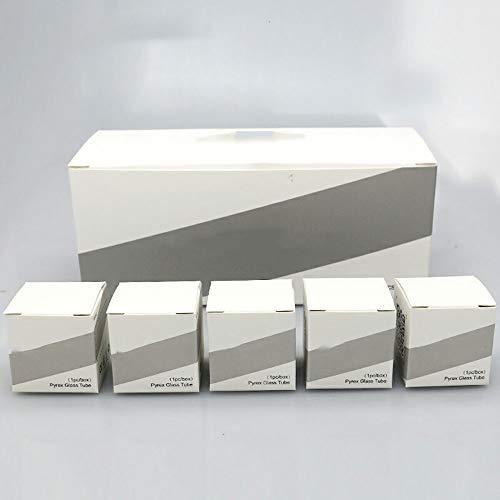 LITAO-CIG, 20 Piezas de reemplazo de Tubos de Vidrio Pyrex for GeekVape Ammit 25 RTA atomizador 2 ml / 5 ml de Bobina única Tanque (Color : 2ml)