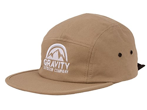 Gravity Outdoor Co. 5 Panel Hat - Khaki