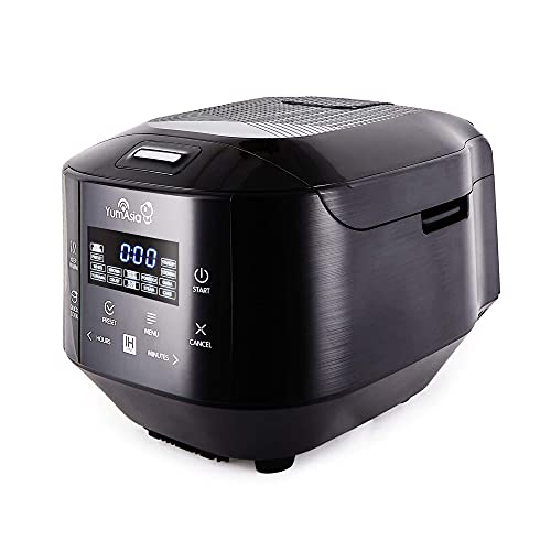 Yum Asia Bamboo Rice Cooker with Induction Heating (IH) and Ceramic Bowl, 7 Rice Cooking Functions, 4 Multicooker Functions, Motouch LED Display (1.5 Litre) 220-240V UK/EU (Anthracite Black)