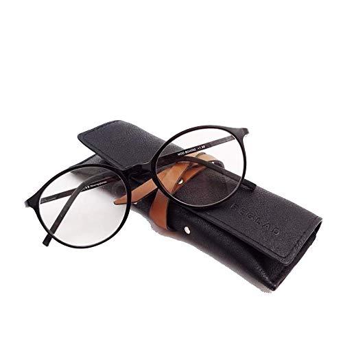 ビグラッド(BEGLAD) 老眼鏡 ブラック 度数:+2.00 【軽量 ブルーライトカット おしゃれなケース付】 BG4002BK