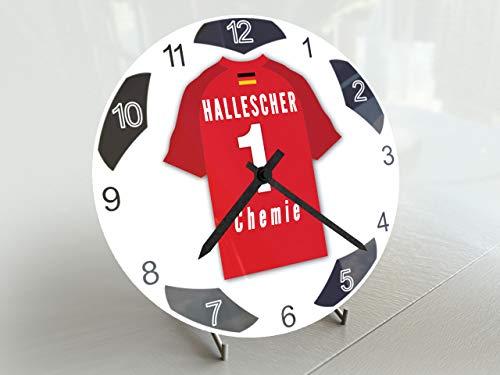 FanPlastic Deutschland 3. Liga Fußball-Uhr – alle Teams, Fußball-Uhr, Design !, Acryl, Hallescher FC