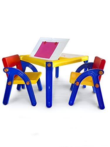 Picnmix 5 in 1 Activity Kids Table and Chairs Set for Toddlers; Water, Craft, Sensory, Storage and Drawing Table. Includes 2 Toddler Chairs for Table. Table for Toddler Games and Craft.