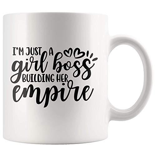 Ik ben gewoon een meisje baas bouwen haar eigen rijk feministische mok cadeau, meisje macht, empowered vrouw koffie mok, sterke vrouw empowerment theekopje 11 oz