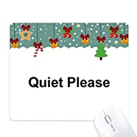 クリスマスのシンボルのクリスマス漫画アイコン ゲーム用スライドゴムのマウスパッドクリスマス