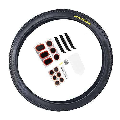 LDFANG Neumáticos de Bicicleta de montaña, K1153 24 * 1.95,26 * 1.95,26 * 2.1 con Herramienta de reparación de Bicicletas MTB Bike Bead Wire Tire para montaña