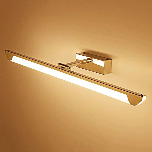 Led-spiegellamp, roestvrij stalen toilet wandlamp, vochtbestendig spiegelkast met verlichting