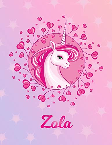 Zola: Unicorn Sheet Music Note Manuscript Notebook Paper – Magical Horse Personalized Letter Z Initial Custom First Name Cover – Musician Composer … Notepad Notation Guide – Compose Write Songs