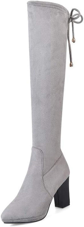 Damen Stiefel   Stiefel   Elastische Knie, Stiefel, groe Schuhe, Dicke Schuhe.