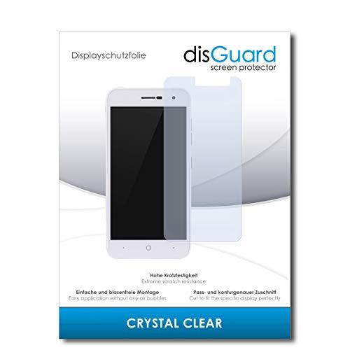 disGuard® Bildschirmschutzfolie [Crystal Clear] kompatibel mit ZTE Blade L7A [2 Stück] Kristallklar, Transparent, Unsichtbar, Extrem Kratzfest, Anti-Fingerabdruck - Panzerglas Folie, Schutzfolie
