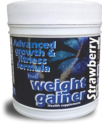 Develo Weight Fast Gainer With I Whey I Soy I Milk I Protein For Gym, Original Gold Supplement xxl For Men Boys 500Gm Powder Strawberry Flavour