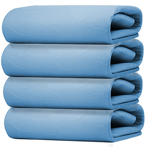 Gigi Homes Incontinence Bed Pads, Washable Pack of 4 Large Underpads...