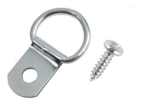 D-ringen en schroeven voor het ophangen van fotolijsten (10 stuks).