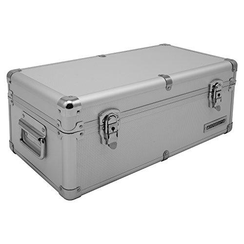 Aluminium-Rahmenkoffer Transport-Box, Koffer in Silber mit 19 Liter Volumen