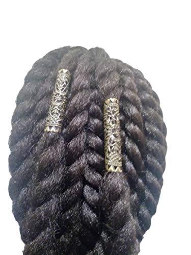 Tribal Loc Jewelry, cuentas de rastas de bronce, accesorio para el pelo