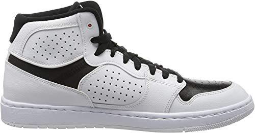 Nike Mens Jordan Access Running Shoe, White/Gym Red-Black, 45 EU