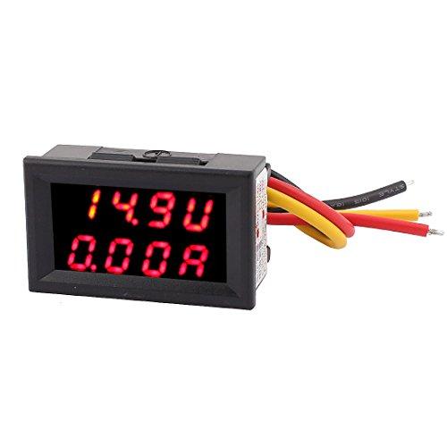 uxcell LEDデジタルパネルメータ 電流計 電圧計 DC0-30V 0-5A レッド LED デジタル周波数 パネルメータ