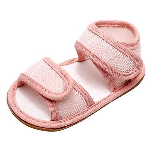 YWLINK Zapatos De Cuna Sandalias Antideslizantes De Verano Zapatos De NiñO con Fondo Suave Zapatos CóModos Transpirables De Primer Paso Calzado Deportivo Fiesta De Bautizo Regalo De CumpleañOs