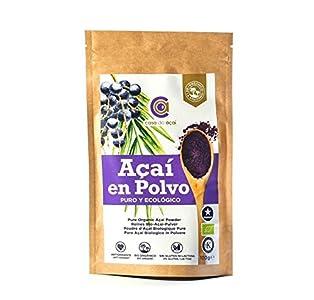 Açaí Ecológico en Polvo, Açaí Berry Organic Powder Biológico Orgánico, Bayas de Acai Organico en Polvo. Hecho con la Pulpa de Açaí, Superalimento de Cultivo Nativo de la Amazonia… (200g)
