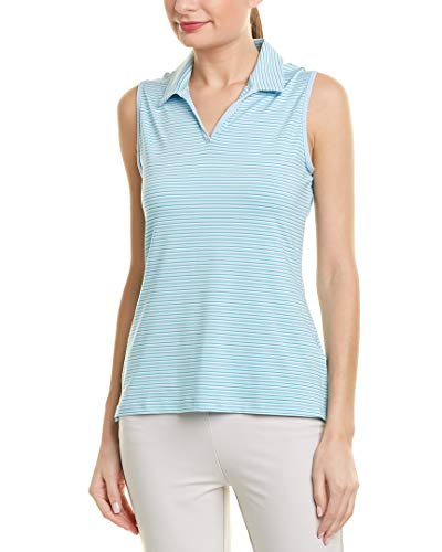adidas Golf Damen 365Ultimate Stripe Polo Sleeveless, Damen, Vision Blue, Large