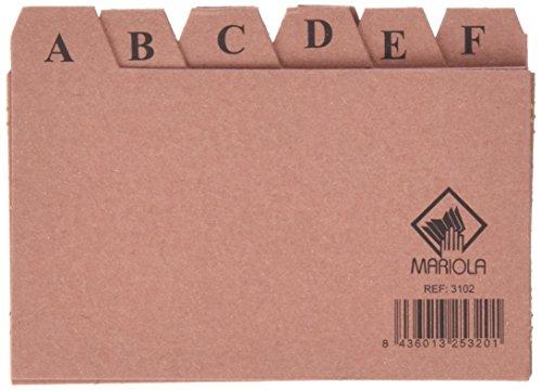Mariola 3102 - Índice alfabético 24 posiciones cartón 125x75 mm