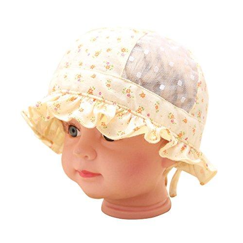 ZUMUii Butterme Unisexe du Nouveau-né Bébé Tout Chapeau de Soleil Chapeau de Bébé Chapeau de Maille Seau Chapeaux avec Sangle réglable(5-12 Mois)