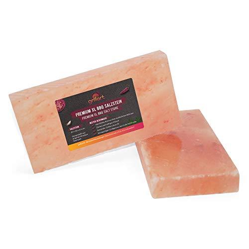 pierre de sel grillart Premium XL pour griller (paquet de 2) - pierre de sel BBQ de haute qualité pour un goût spécial - planche de sel originale pour griller