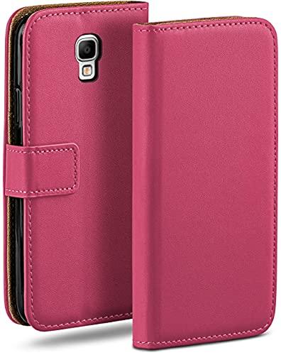 moex Klapphülle kompatibel mit Samsung Galaxy Note 3 Neo Hülle klappbar, Handyhülle mit Kartenfach, 360 Grad Flip Hülle, Vegan Leder Handytasche, Pink