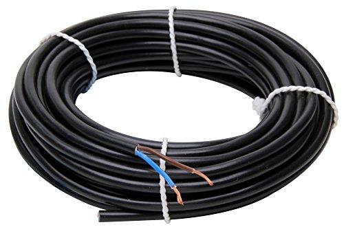 Kopp 152210845 Schlauchleitung H03 VV-F, 2 x 0.75 mm², 10 m, schwarz