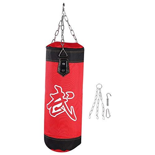 Dilwe Punch Sandsack, Strapazierfähiger Boxsack aus Schwerer Canvas Tasche für Trainingsübungen Fitness und Sport(1.2m-Rot)