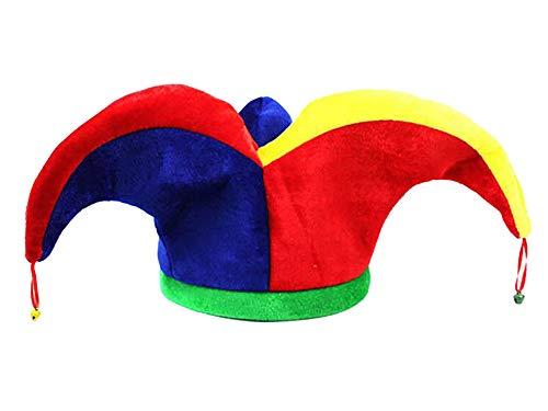 Feynman Sombreros de Joker para Halloween y Actuaciones Tocados de Babuino con Campanas Accesorios de Carnaval