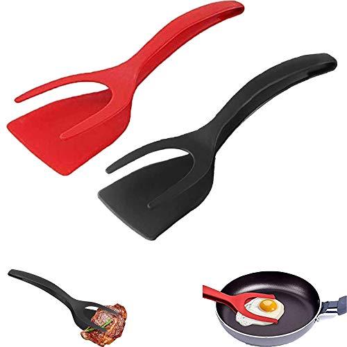 Espátula de Silicona Antiadherente 2 en 1 antiadherente torneadores panqueques tostados pan agarre y flip Pala de Cocina, Utensilios de Cocina para utensilios de cocina 2 Pieza