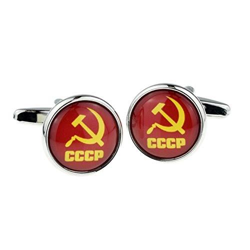 CCCP Manschettenknöpfe Russischer Hammer und Sichel, Retro-Stil