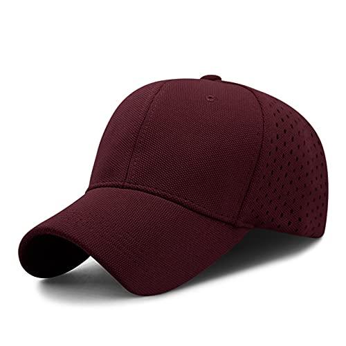 Gorra de béisbol de malla versátil y transpirable para hombres y mujeres gorra de verano con ventilación fresca gorra de moda para deportes al aire libre sombrero para el sol visera sombrero plano