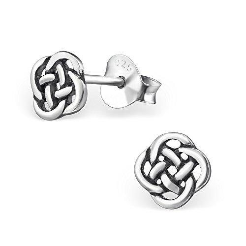 ICYROSE 925 Sterling Silver Celtic Knot Stud Earrings for Women 31422 (Nickel Free)