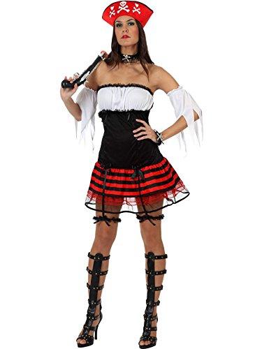 Atosa - Disfraz de pirata sexy para mujer, talla 38-40 (10231)
