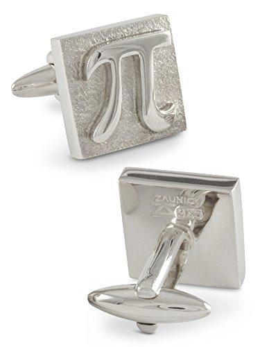 ZAUNICK PI Quadrat Manschettenknöpfe Silber 925 handgefertigt