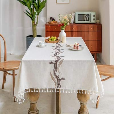 XXDD Mantel de Boda y decoración de sillas Mantel Colgante de Dobladillo con Bordado Decoraciones de Cocina A1 135x160cm