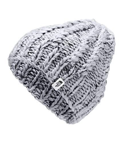 The North Face Women's Chunky Knit Beanie, TNF Light Grey Heather/TNF Black Multi, OS
