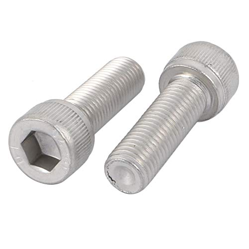 DealMux Tornillos de cabeza hueca hexagonal de acero inoxidable 304 con paso de 1,25 mm M10x30mm 2 uds.