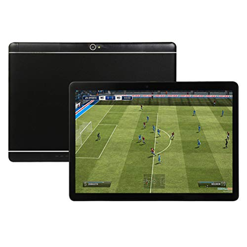 10 inch Android Tablet, 4GB RAM 64GB ROM,Octa-Core CPU,Bluetooth,5G-WiFi,GPS, 3G-Unlocked,GMS Certified, HD Display,H6(Black)