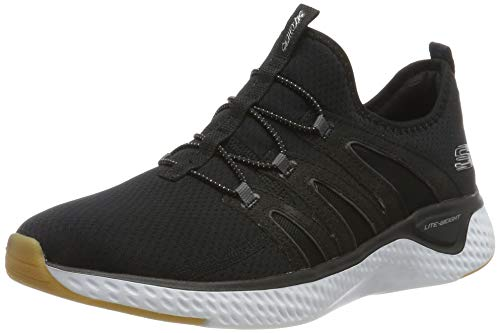 Skechers Solar Fuse Zapatillas Mujer, Negro (Black Mesh/White & Gum Trim Bkw), 4 (37 EU) EU