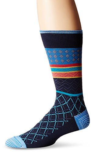 Robert Graham Men's Chirala, Navy, Sock Size:10-13/Shoe Size: 6-12